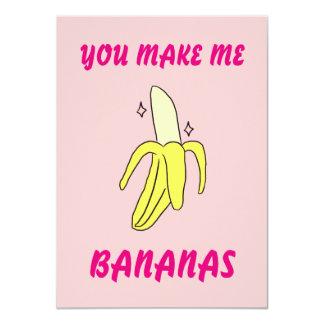 Sie machen mich Bananen die Karte des