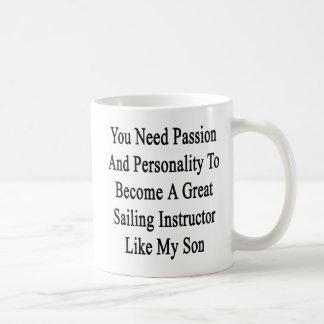Sie müssen Leidenschaft und Persönlichkeit eine Kaffeetasse