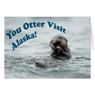 Sie Otter-Besuch Alaska Karte