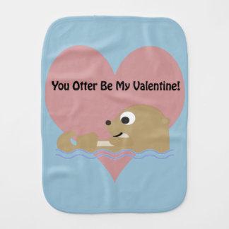 Sie Otter sind mein Valentinsgruß Baby Spucktuch