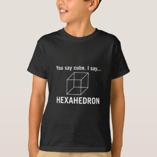 Sie sagen Würfel _, das ich hexahedron _Dunkelheit T-Shirt