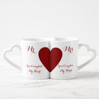 Sie schließen mich Paar-Tassen-Set ab Partnertassen