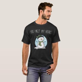 Sie schmelzen meine Herz-Winter-Freund-Freundin T-Shirt