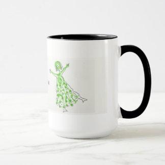 SIE SIE grünen Tänzer-Tasse Tasse