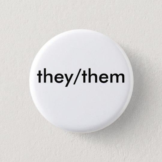 sie/sie Pronomen-Abzeichen Runder Button 2,5 Cm