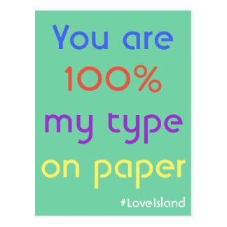 Sie sind 100% meine Art auf Postkarte