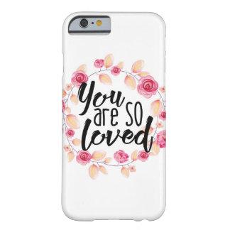 Sie sind also geliebt; Rosa Blumen Barely There iPhone 6 Hülle