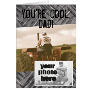 Sie sind cooler Vati -- Der Vatertags-Karte Trakto Grußkarte