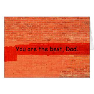 """""""Sie sind das Beste, der Vatertag Vati-"""" Karte"""