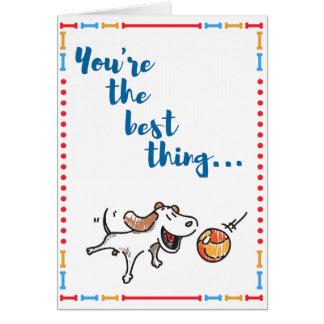 Sie sind das Beste! Spaßhundekarte sagt es allen! Mitteilungskarte