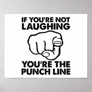Sie sind das Punchline-lustige Plakat