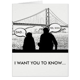 """""""Sie sind der Mann"""": Der Vatertags-Karte Karte"""