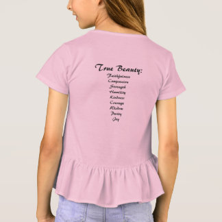 Sie sind die Rüsche-T-Shirt der schönen wahren T-Shirt