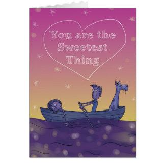 Sie sind die süßeste Sache Grußkarte