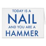 """""""Sie sind ein Hammer…"""" motivierend Grußkarte"""