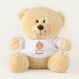 Sie sind ein Pfirsich süßer Kawaii niedlicher Teddybär