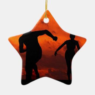SIE SIND EIN SIEGER KERAMIK Stern-Ornament