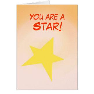 Sie sind ein Stern, Glückwünsche, die Karte