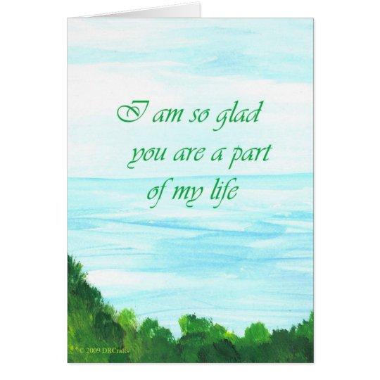 Sie sind ein Teil meines Lebens Grußkarte