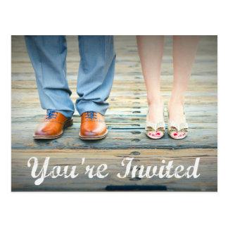Sie sind eingeladene Hochzeit einladen Postkarten