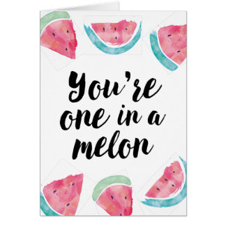 Sie sind eins in einem Melonegeburtstag Karte