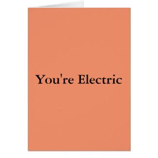 Sie sind elektrisch grußkarte