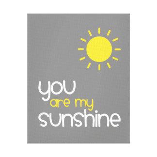 Sie sind mein Sonnenschein-grauer Leinwanddruck