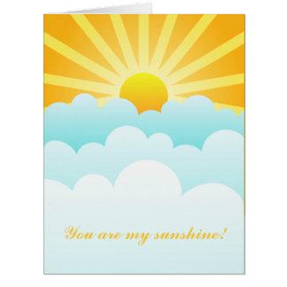Sie sind mein Sonnenschein Karte