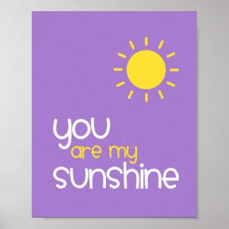 Sie sind mein Sonnenschein-lila Poster