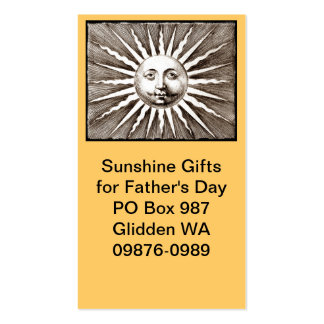 Sie sind mein Sonnenschein-Vati Visitenkarten Vorlagen
