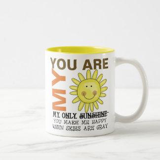 Sie sind mein Sonnenschein Zweifarbige Tasse