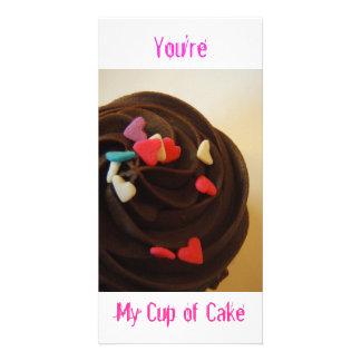 Sie sind meine Schale des Kuchens! Foto-Karte! Foto Grußkarte