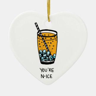 Sie sind Nizza Keramik Herz-Ornament