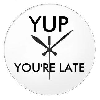 Sie sind runden spät Uhr