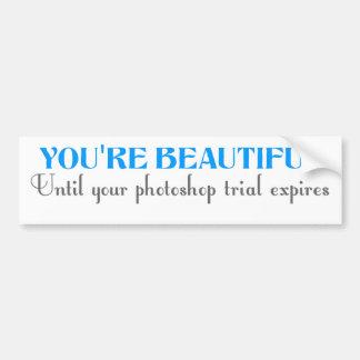 Sie sind schön, bis Ihr photoshop Versuch ablaufen Autoaufkleber