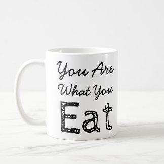 Sie sind, was Sie Kaffee-Tasse essen Tasse