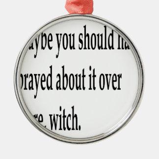 Sie sollten 2 gebetet haben silbernes ornament