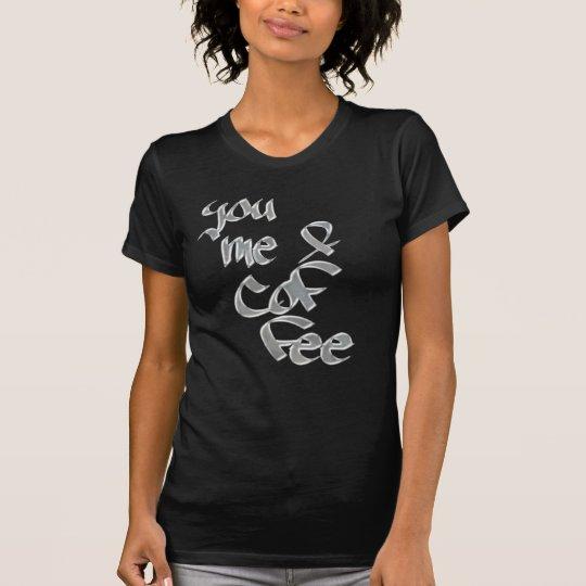 Sie T - Shirtentwurfstee ich u. des Kaffees T-Shirt