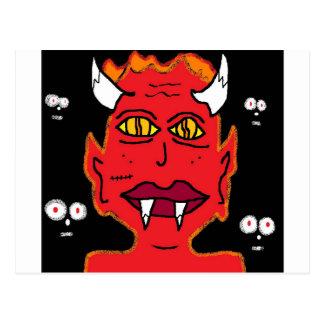 sie Teufel Postkarte