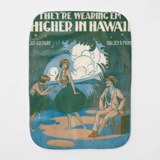 Sie tragen ` EM höher in Hawaii Baby Spucktuch