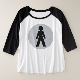Sie trägt die Hosen Große Größe Raglan T-Shirt