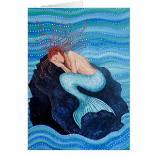 Sie träumt Seetraum-Meerjungfrau-Gruß-Karte Karte