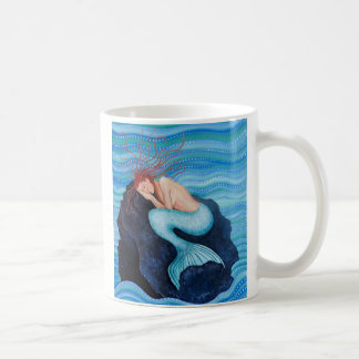 Sie träumt Seetraum-Meerjungfrau-Tasse Kaffeetasse
