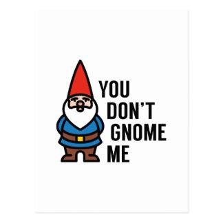 Sie tun nicht Gnome ich Postkarte