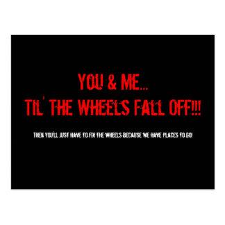 Sie u. ich… Til die Räder fallen!! herunter! , Postkarte