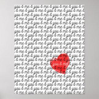 Sie und ich Liebedruck Plakat des Valentines Tages