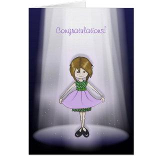 Sie verdienen den Scheinwerfer! Glückwünsche! Karte
