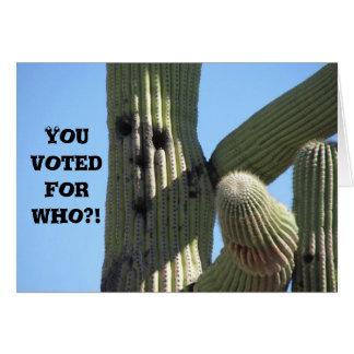 Sie wählten für wem Aufgerüttelte Kaktus-Gruß-K