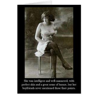 Sie war intelligent und well-mannere… karte