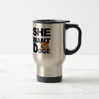 Sie will den Doge Edelstahl Thermotasse